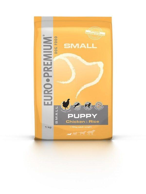 Euro-premium small puppy chicken & rice 1 kg