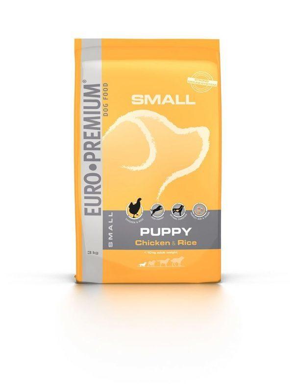 Euro-premium small puppy chicken & rice 3 kg