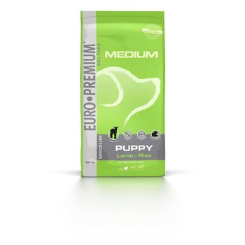 Euro-premium medium puppy lam & rice 12 kg
