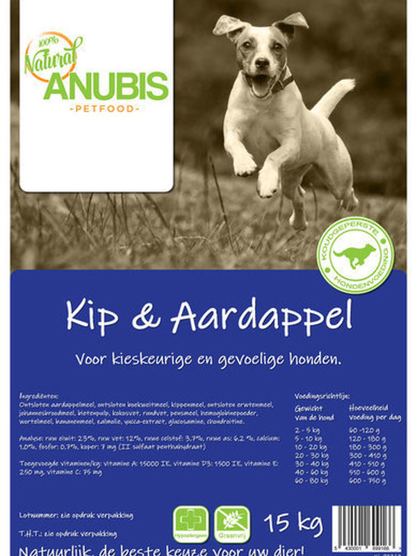 Anubis kip & aardapel 15 kg 100% graanvrij
