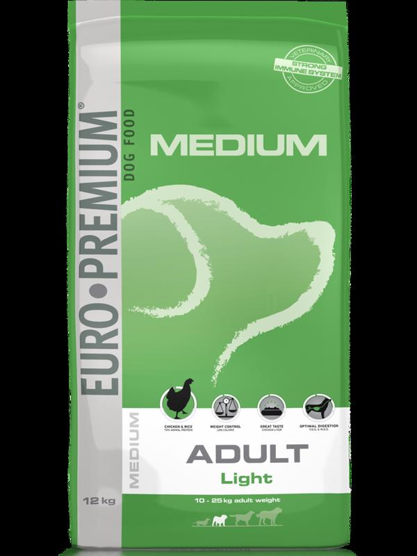 Euro-premium medium adult light 12 kg