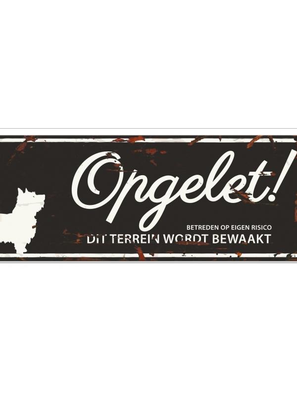 Warning sign terrier n Zwart
