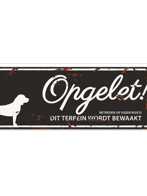 Warning sign beagle n Zwart