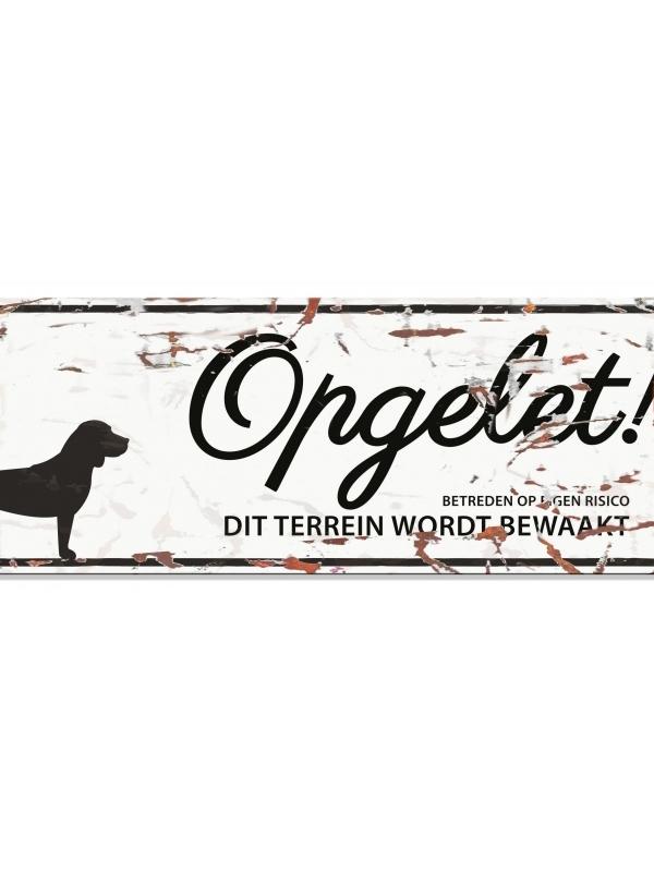 Warning sign beagle n Wit