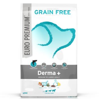 Euro-premium medium adult derma+ 10 Kg