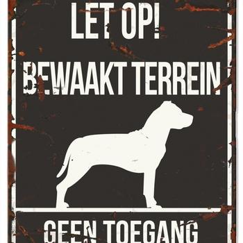 Warning sign square stafford n Zwart