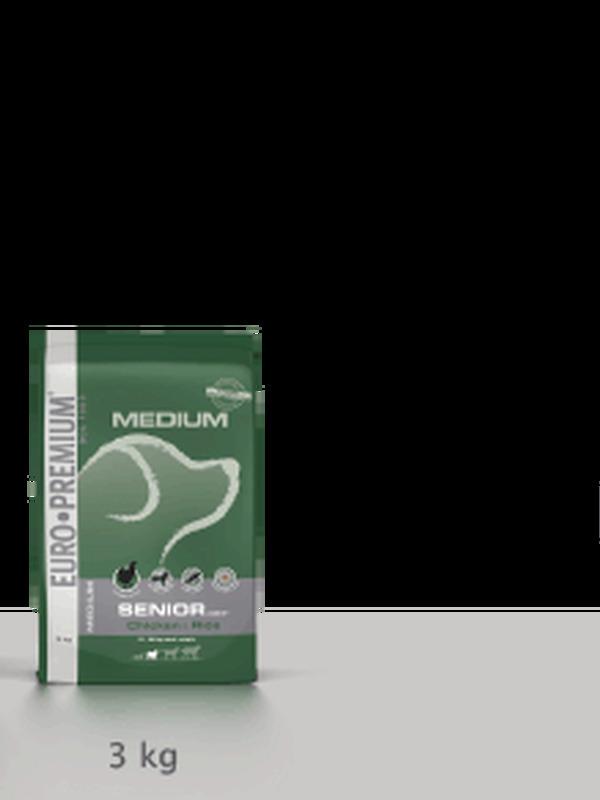 Euro-premium medium senior chicken & rice 12 kg