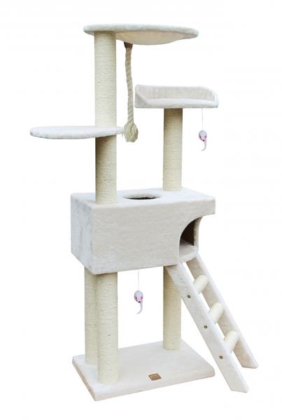 Krabpaal classictree boxstep Creme 56x35x154CM