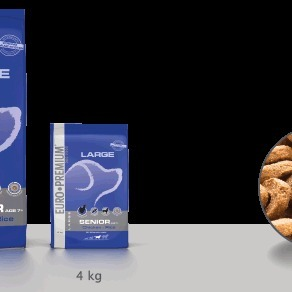 Euro-premium large senior chicken & rice 4 kg