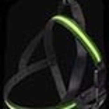 Safety harness led green 60-75cm 25mm