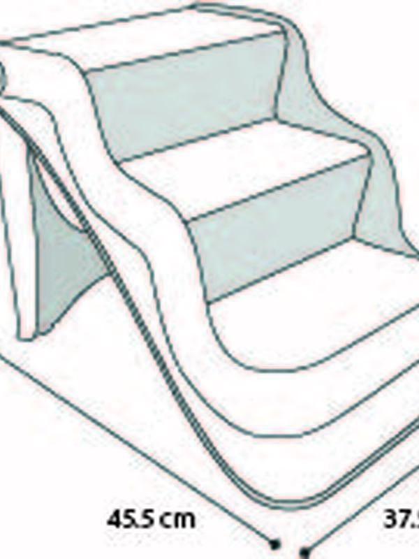 Easy step stairs fol beige 45,5x37,5x38