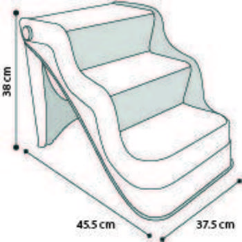 Easy step stairs fol black 45,5x37,5x38