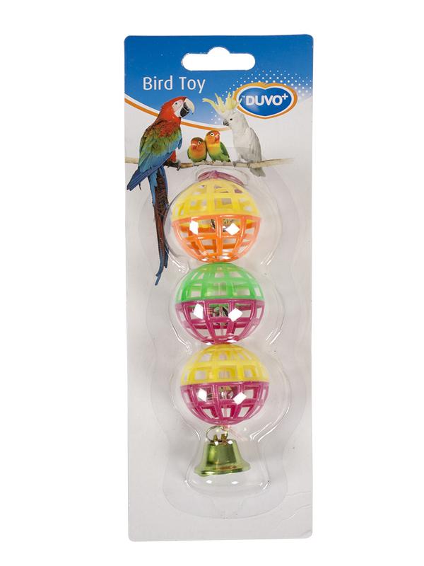 Speelballetjes met bellen Ø4 - 15cm