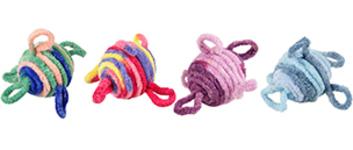 Small balls wool ass 4,5 cm 2st.