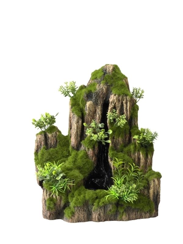 Waterval met pomp moss rock S - 25,5x18x31cm