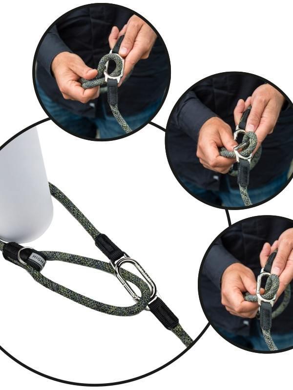 H5d leisure clic leiband blauw 7mm x 140cm