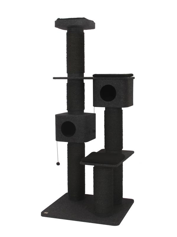 Krabpaal comfort plus onyx Antraciet 88x75x208cm