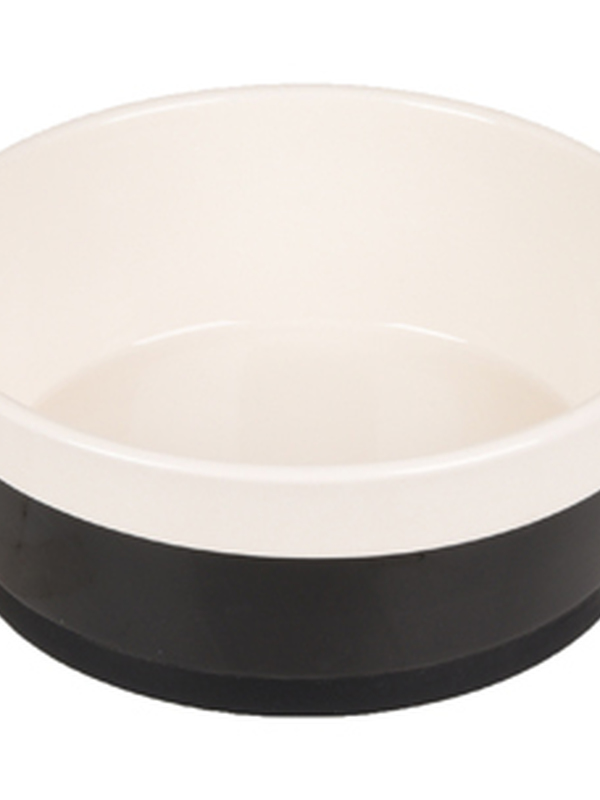 Bowl dog duke ceramic non-slip black/white 14cm 420ml