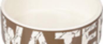 Bowl dog Kyra ceramic taupe/white 12,5cm 280ml