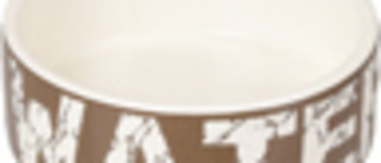 Bowl dog Kyra ceramic taupe/white 16cm 770ml