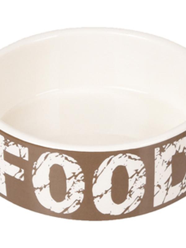 Bowl dog Kyra ceramic taupe/white 20,5cm 1500ml