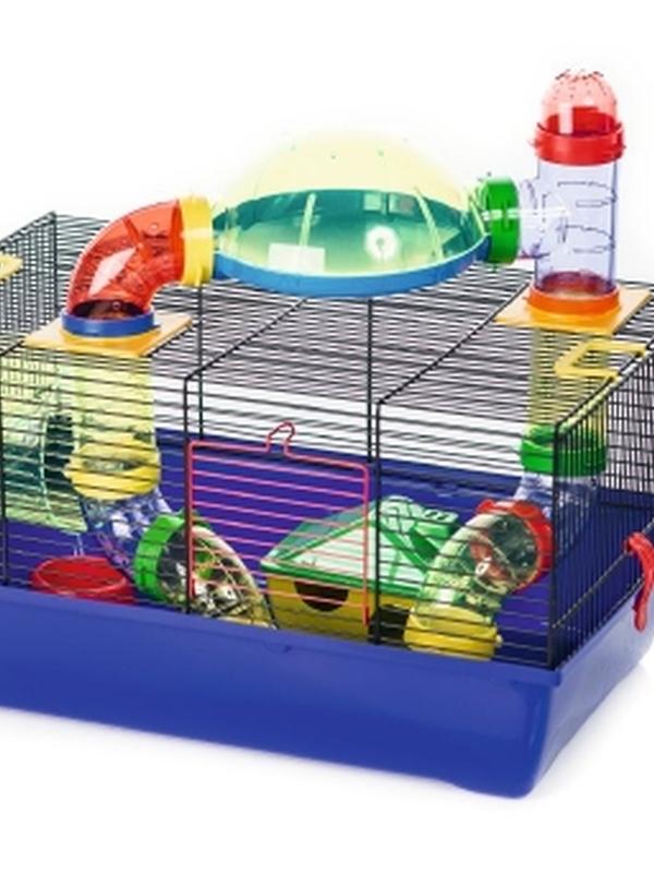 Hamsterk Labyrint zwt/blw 50x28x25cm