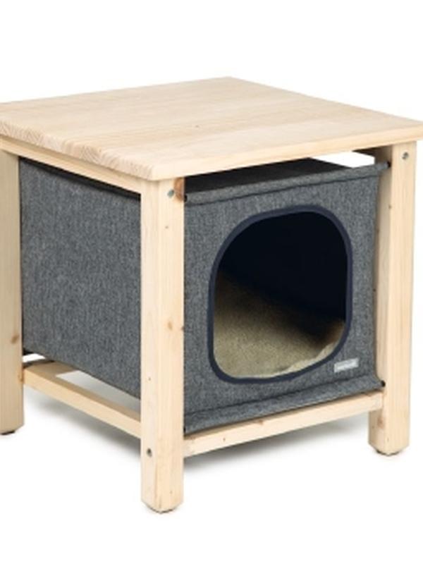 BZ hout kattenhuis Pitoux 50x50x50CM