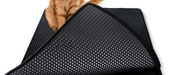 Kattenbakmat swift Zwart 45x65cm