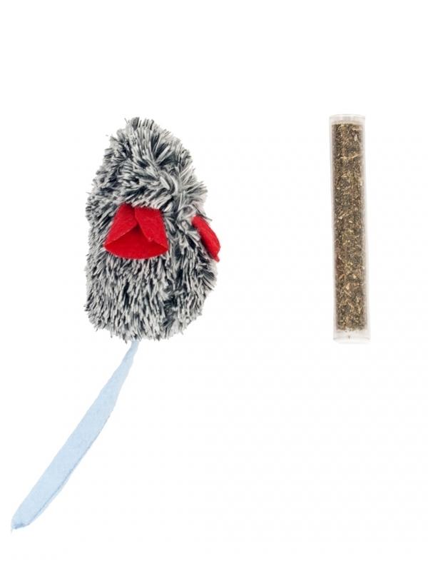 Minnie muis met catnip 22x5cm