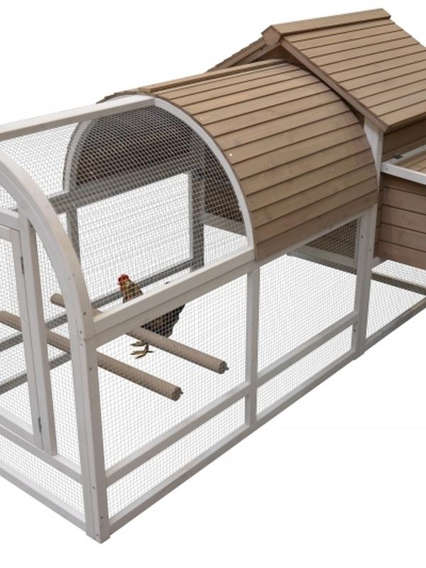 Woodland kippen hok + ren ark 2 cottage 198x92x115 cm