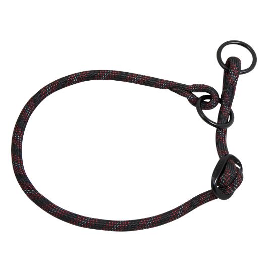 Nylon Sliphalsband S - 8 mm x 30-35 cm - halsomvang: 30-35cm zwart