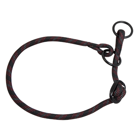 Nylon Sliphalsband  L - 8 mm x 40-50 cm - halsomvang: 40-50cm zwart
