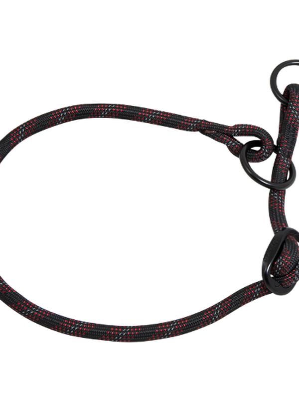Nylon Sliphalsband  XL - 8 mm x 50-65 cm - halsomvang: 50-65cm zwart