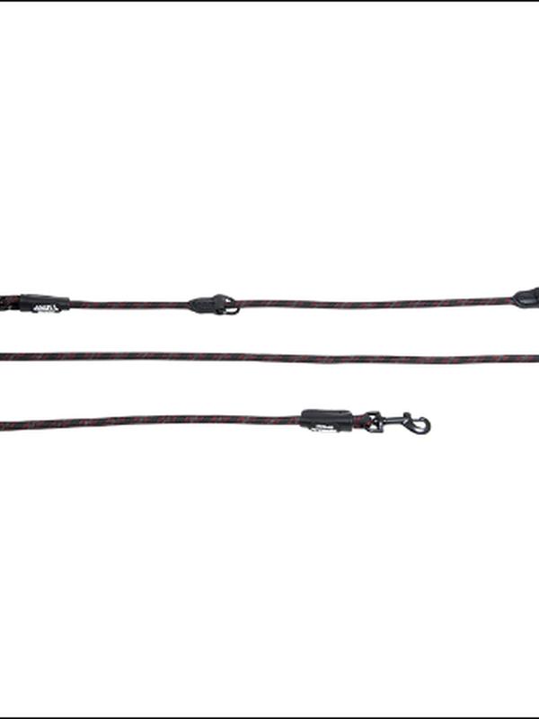 Nylon Dressuurlijn 8 mm x 200 cm zwart reflecterende