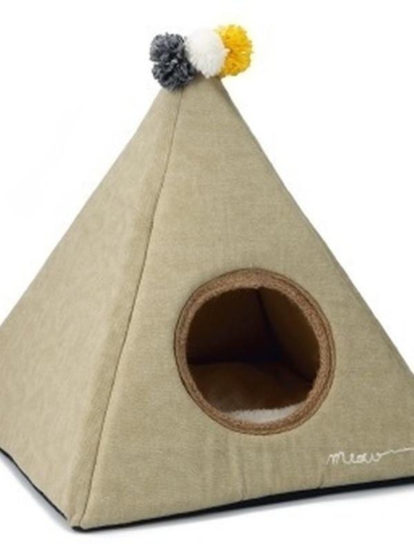 Piramido - Kattenhuis - Beige - 45x45x45 cm