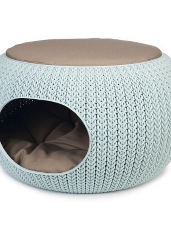 Curver Cozy Pet Home - Kattenmand - Lichtblauw - 55 cm