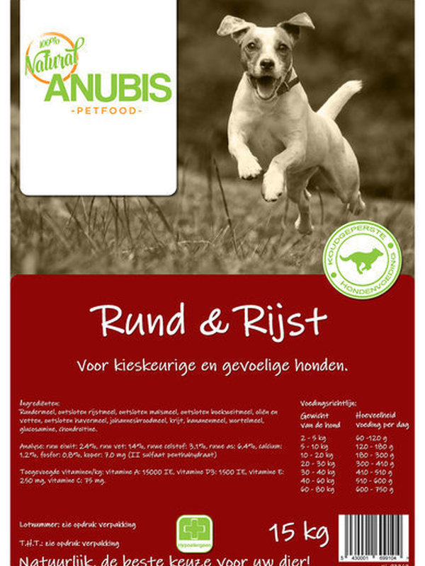 Anubis Rund & Rijst 15 Kg