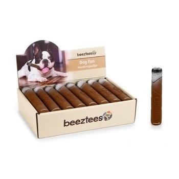 Latex hondenspeeltje sigaar. Bruin. 15 cm.