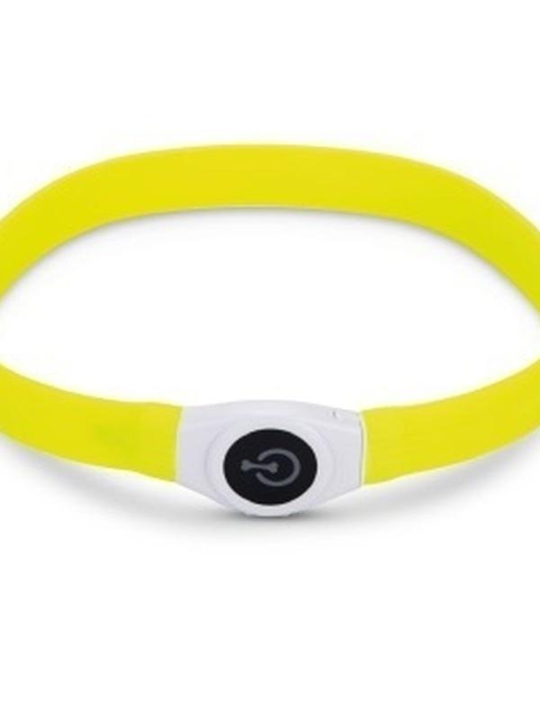 Safety Gear Glowy - Halsband Hond - Geel - 65x2,5 cm