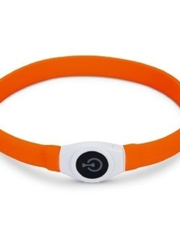 Safety Gear Glowy - Halsband Hond - Oranje - 65x2,5 cm