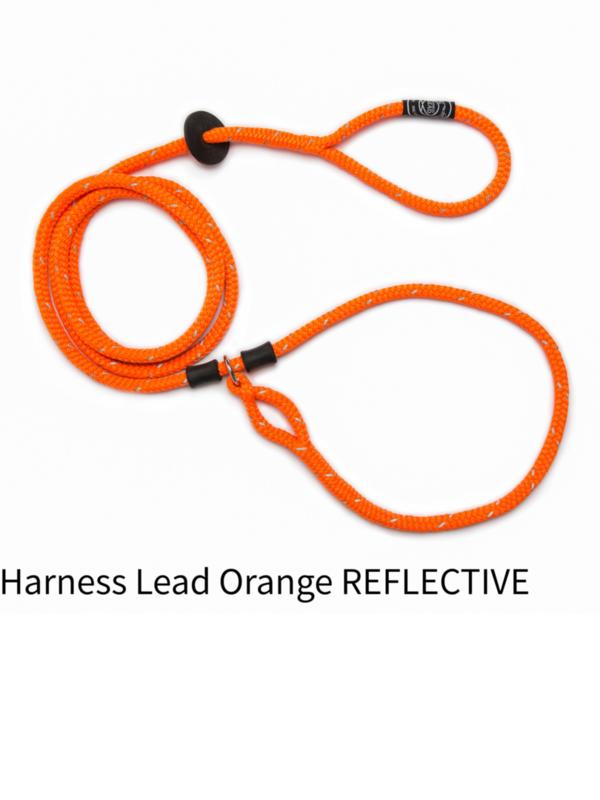 Harnass lead orange reflective size L (18-85+kg)